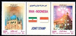 IRAN 2858/59 Indonesia, Drapeaux, Mosquées - Gemeinschaftsausgaben