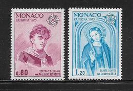 MONACO ( MC7 -170 ) 1975  N° YVERT ET TELLIER  N° 1003/1004   N** - Mónaco