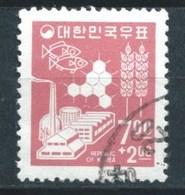 Corea Del Sur (O) USADOS  MI-564 YT-445 SIMBOLOS DE LA ECONOMIA Y EL DESARROLLO - Korea, South