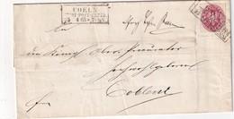 PREUSSEN 1865     ENTIER POSTAL/GANZSACHE/POSTAL STATIONARY  LETTRE DE COELN - Ganzsachen