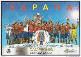 2012-ED. 4757 H.B.-ESPAÑA CAMPEONES DE LA EURO UEFA 2012. CAMPEONATO DE EUROPA DE FÚTBOL-USADO - 1931-Oggi: 2. Rep. - ... Juan Carlos I