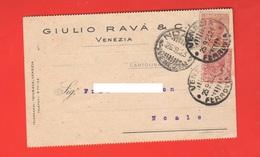 Venezia Commercio G. Ravà & C. Cartolina Commerciale 1923 Per Noale Venezia - Negozi