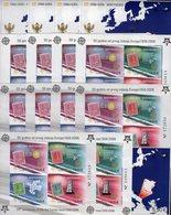 15 Blocks 2006 Crna Gora Bl.2A/B+Bl.3 ** 642€ 50 Year CEPT Hoja Blocs History Stamps Ss Philatelic Sheets Bf EUROPA - Blocks & Kleinbögen