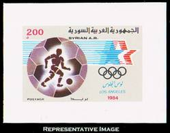 Scott 1011   200P Soccer 1984 Olympics Souvenir Sheet. Mint Never Hinged. - Siria