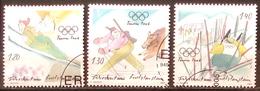 Liechtenstein 2005: Biathlon - Slalom - Skiflug (Humoristisch) Zu 1334-36 Mi 1394-96 Yv 1335-37 Mit ET-o (Zu CHF 9.75) - Winter 2006: Torino