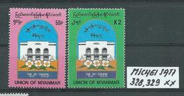 MYANMAR MICHEL SATZ 328,329 Postfrisch Siehe Scan - Myanmar (Burma 1948-...)