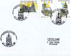 2711/13 (églises) Sur Lettre Avec Cachet De Prévente (voir Scan & Descr) - Postmark Collection