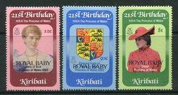 Kiribati 1982 Birth Of Prince William Of Wales Set LHM (SG 186-188) - Kiribati (1979-...)
