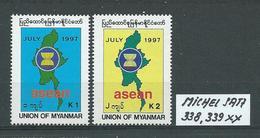MYANMAR MICHEL SATZ 338,339 Postfrisch Siehe Scan - Myanmar (Burma 1948-...)