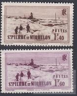 France S. P. M. TUC De 1939-40 YT 203-204 Neufs - Unused Stamps
