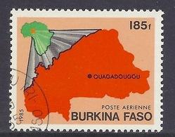Burkina Faso - 1985 Map - Used - Burkina Faso (1984-...)