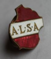 à Identifier Insigne De Boutonnière émaillé A. L. S. A. - Abzeichen & Ordensbänder
