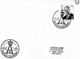 2714 (Albert II à Lunettes 19F) Sur Lettre Avec Cachet De Prévente (voir Scan & Descr) - Postmark Collection