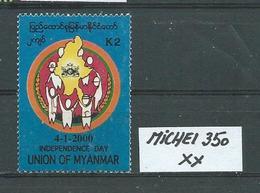 MYANMAR MICHEL 350 Postfrisch Siehe Scan - Myanmar (Burma 1948-...)