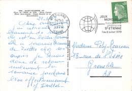 Flamme - Jeux Mondiaux Handicapés Physiques Saint-Etienne, Loire, 1970 - Carte Postale - Postmark Collection (Covers)
