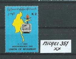 MYANMAR MICHEL 357 Postfrisch Siehe Scan - Myanmar (Burma 1948-...)