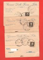 Feltre 3 Cartoline Commerciali 1940 Per Noale Venezia - Negozi