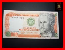 PERU 50.000 50000 Soles De Oro 23.8.1985 P. 125 B  Spot UNC - Perù