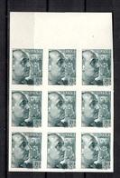 Espagne YT N° 667 En Bloc De Neuf Timbres Non Dentelés Neufs ** MNH. TB. A Saisir! - 1931-Aujourd'hui: II. République - ....Juan Carlos I