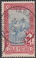 Tunisie - Tabarka Sur Colis Postal N° 9 (YT) N° 9 (AM). Oblitération De 1908. - Tunisie (1888-1955)