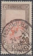 Tunisie - Teboulba Sur Colis Postal N° 3 (YT) N° 3 (AM). Oblitération De 1916. - Tunisie (1888-1955)