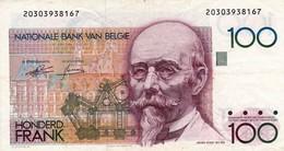 "BELGIUM 100 Francs ND 1978-1981 VF P-140a ""free Shipping Via Regular Air Mail (buyer Risk)"" - 100 Francs"
