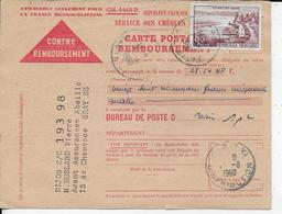 39.- GRAY  - CARTE POSTALE REMBOURSEMENT  Hublard Pierre - Briefe U. Dokumente