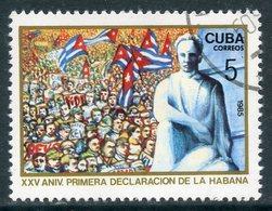 Y85 CUBA 1985 2962 25 Years Since The First Havana Declaration. Flags - Gebruikt