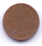 FINLAND 1969: 1 Penni, KM 44 - Finland
