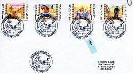 2721/24 2x (métiers Artisanaux) Surs Lettres Avec 2 Cachets DIFFERENTS Prévente & 1er Jour (voir Scan & Descr) - Postmark Collection