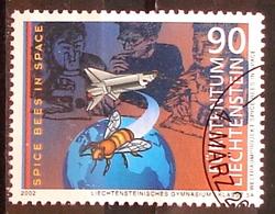 Liechtenstein 2002: SPICE-BEES IN SPACE  Zu 1232 Mi 1291 Yv 1232 Mit ET-o (Zu CHF 2.25) - Honingbijen