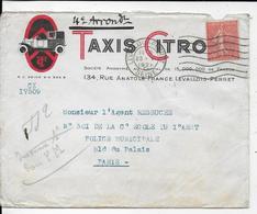 75.- TAXIS CITROËN  134 Rue Anatole France Levallois Perret - Francia