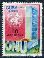 Y85 CUBA 1985 2973 40th Anniversary Of The United Nations - Gebruikt