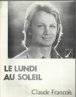 """""""Le Lundi Au Soleil """" Claude François - Musique De Patrick Juvet - Paroles Frank Thomas Et Jean-Michel Rivat - Music & Instruments"""