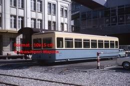 ReproductionPhotographie Du Métro à Crémaillère L.O Lausanne-Ouchy En Suisse De 1964 - Reproductions