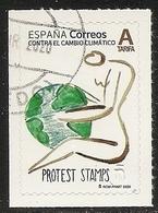 2020-ED. 5396 -Contra El Cambio Climático. Protest Stamps- USADO - 1931-Oggi: 2. Rep. - ... Juan Carlos I