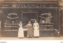 75010. N°53914.PARIS.Boulangerie.mme Gautier. 88 Faubourg St Denis.Carte Photo - Arrondissement: 10