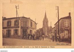 85. N°54054.le Bourg Sous La Roche. Le Café Du Commerce Et L'eglise - Autres Communes