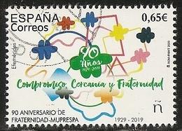 2020-ED. 5388 -90 Aniv. De La FRATERNIDAD-MUPRESPA (1929-2019) - USADO - 1931-Oggi: 2. Rep. - ... Juan Carlos I