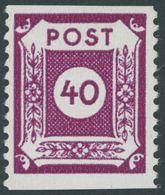 OST-SACHSEN 50E **, 1945, 40 Pf. Großröhrsdorf, Senkrecht Gezähnt, Postfrisch, Pracht, Gepr. Dr. Jasch, Mi. 70.- - Soviet Zone