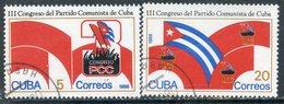 Y85 CUBA 1986 2986-2987 3rd Congress Of The Communist Party Of Cuba, Havana - Gebruikt