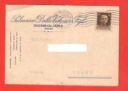 Domegliara Verona Azienda Dalla Vedova Commerciale Viaggiata 1935 Per Noale Venezia - Negozi