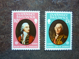 1980  Europa Famous People     SG = 212 / 213   ** MNH - Guernesey