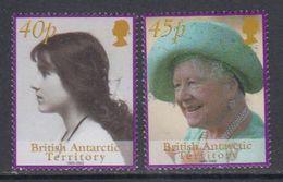 British Antarctic Territory 2002 Queen Mother 2v ** Mnh (47848) - British Antarctic Territory  (BAT)