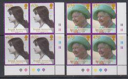 British Antarctic Territory 2002 Queen Mother 2v Bl Of 4 (corner)  ** Mnh (47848A) - British Antarctic Territory  (BAT)