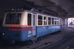 ReproductionPhotographie D'une Vue D'un Train à Crémaillère Des Rochers De Naye à Montreux En Suisse De 1965 - Reproductions
