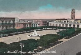 Cartolina - Postcard /   Viaggiata - Sent /  Monopoli, Piazza V. Emanuele.  ( Gran Formato ) - Other Cities