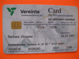 Telecarte Vereinte Card - Phonecards