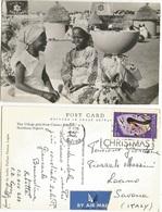 North Nigeria Catsma Katsma Emirates In Katsina Province - The Village Girls B/w AirmailPPC Lagos 14nov1960 - Nigeria