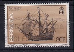 Bermuda: 1986/90   Ships    SG513B   20c  [imprint Date '1989']   Used - Bermudes
